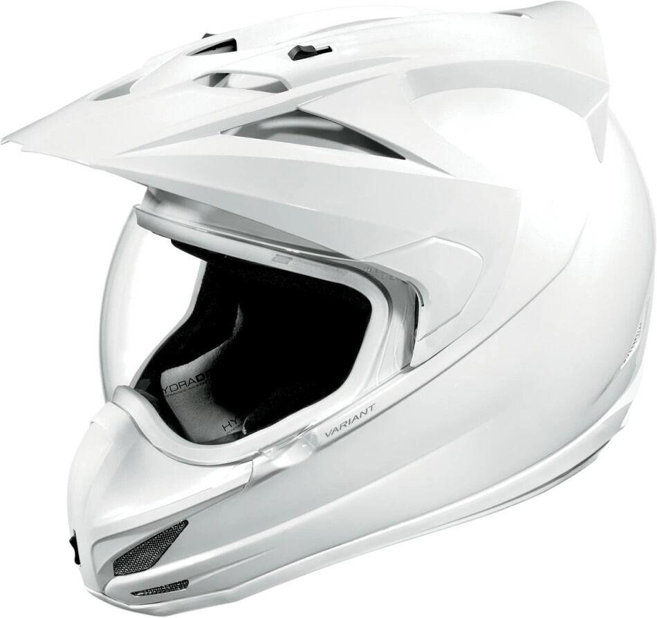 ICON アイコン フルフェイスヘルメット VARIANT SOLID HELMET [バリアント・ソリッド・ヘルメット]【WHITE GLOSS】 サイズ:S(55-56cm)