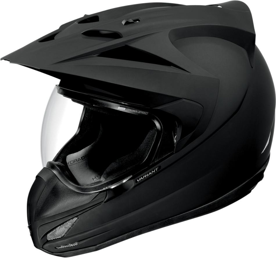 ICON アイコン フルフェイスヘルメット VARIANT RUBATONE HELMET [バリアント・ソリッド・ヘルメット]【BLACK RUBATONE】 サイズ:M(57-58cm)