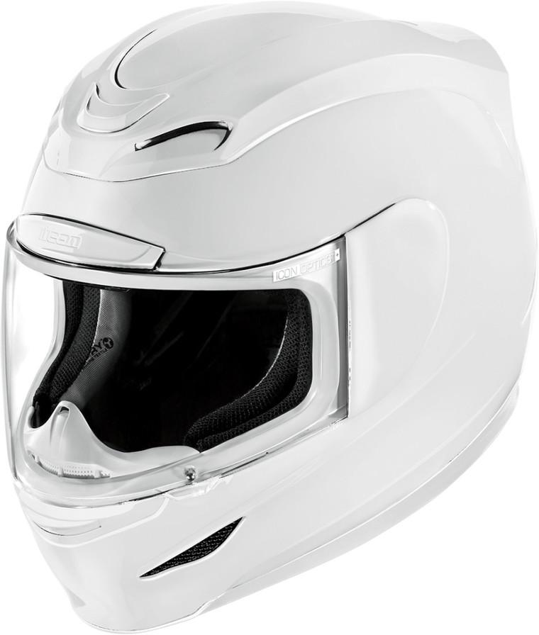 【在庫あり】ICON アイコン フルフェイスヘルメット AIRMADA GLOSS HELMET [エアマーダ・グロス・ヘルメット]【WHITE】 サイズ:L(59-60cm)