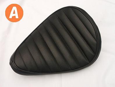 部品屋K&W シート本体 ソロシートキット スプリングタイプ ステッチ:B 本体カラー:ブラック シャドウスラッシャー