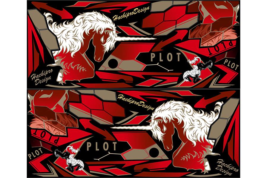 PLOT プロト ステッカー・デカール デカールキット ユニコーン カラー:レッド ニンジャ250