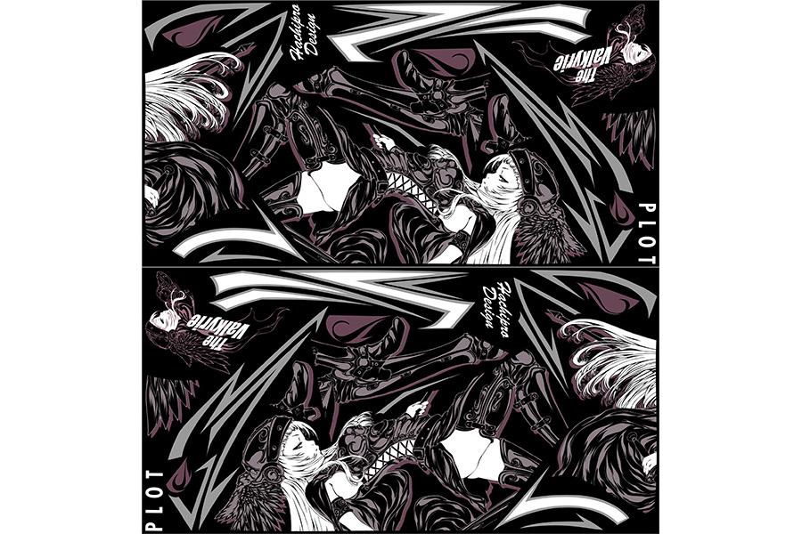 【ポイント5倍開催中!!】【クーポンが使える!】 PLOT プロト ステッカー・デカール デカールキット ヴァルキリー カラー:ブラック CBR250R (2011-)