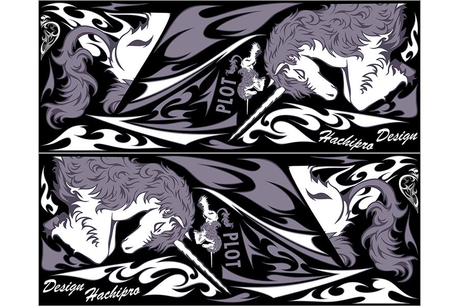 【ポイント5倍開催中!!】【クーポンが使える!】 PLOT プロト ステッカー・デカール デカールキット ユニコーン カラー:ブラック CBR250R (2011-)