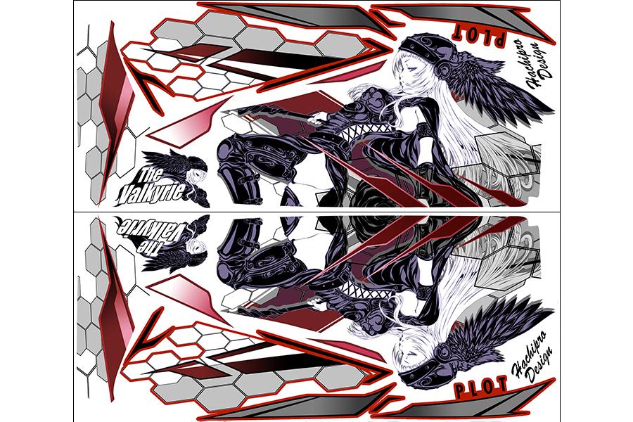 【ポイント5倍開催中!!】【クーポンが使える!】 PLOT プロト ステッカー・デカール デカールキット ヴァルキリー カラー:レッド YZF-R25 YZF-R3