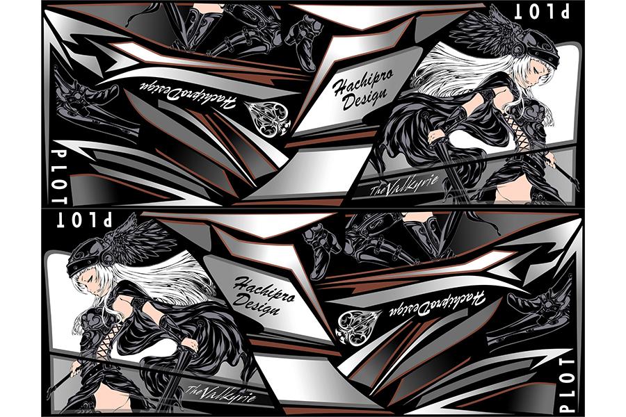 【ポイント5倍開催中!!】【クーポンが使える!】 PLOT プロト ステッカー・デカール デカールキット ヴァルキリー カラー:ブラック Ninja250 [ニンジャ250 ]