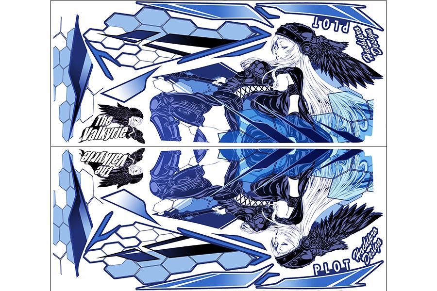 【ポイント5倍開催中!!】【クーポンが使える!】 PLOT プロト ステッカー・デカール デカールキット ヴァルキリー カラー:ブルー YZF-R25 YZF-R3