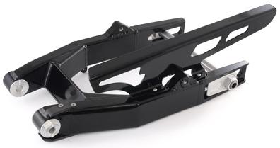 Brock's ブロックス Street Pro アルミスイングアーム アクスルシャフトサイズ:25mm スイングアーム長:2-6インチロング調整式 タンデムステップマウントホール有り ピボットサイズ:3/4インチ 仕上げ:ブラックパウダーコート