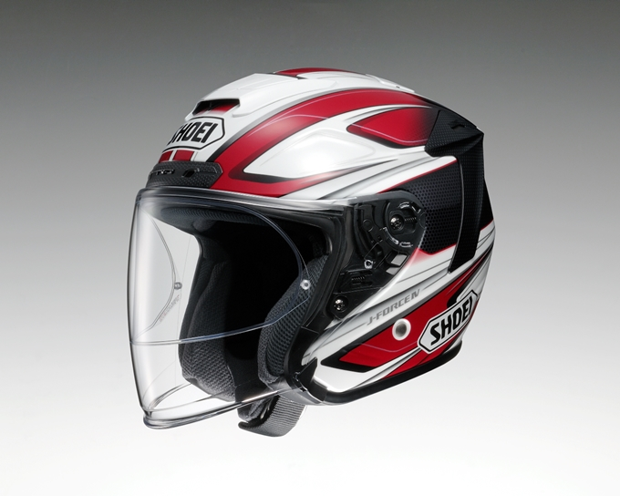 SHOEI ショウエイ ジェットヘルメット J-FORCE IV BRILLER [ジェイ-フォース フォー ブリエ TC-1 RED/WHITE] ヘルメット サイズ:XS (53cm)