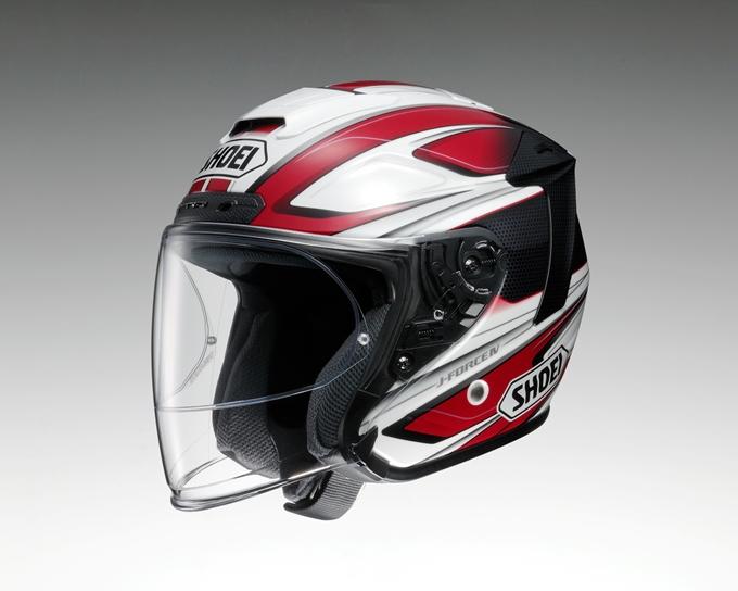 SHOEI ショウエイ ジェットヘルメット J-FORCE IV BRILLER [ジェイ-フォース フォー ブリエ TC-1 RED/WHITE] ヘルメット サイズ:S (55cm)