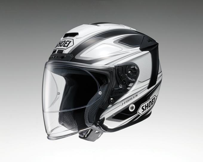 SHOEI ショウエイ ジェットヘルメット J-FORCE IV BRILLER [ジェイ-フォース フォー ブリエ TC-6 WHITE/BLACK] ヘルメット サイズ:S (55cm)