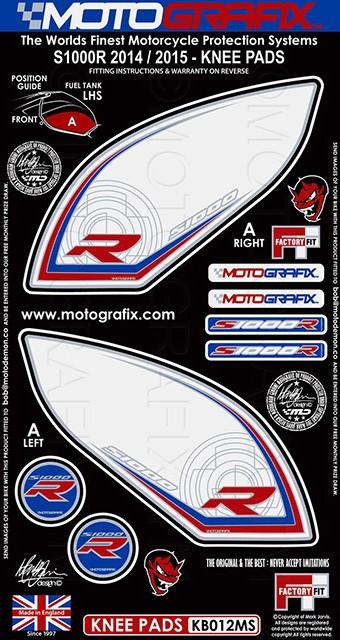 【ポイント5倍開催中!!】MOTOGRAFIX モトグラフィックス ステッカー・デカール ボディーパッド カラー:ホワイト/レッド/ブルー S1000RR