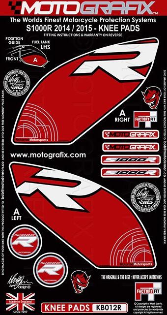 【ポイント5倍開催中!!】MOTOGRAFIX モトグラフィックス ステッカー・デカール ボディーパッド S1000RR