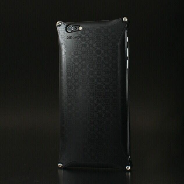 【ポイント5倍開催中!!】GILD design ギルドデザイン スマートフォンケース OKOSHI-KATAGAMI [オコシカタガミ] 【七宝】 for iPhone6 Plus/6s Plus カラー:ブラック [商品コード:GOK-250SB]