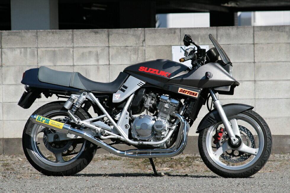 RPM アールピーエム フルエキゾーストマフラー本体 RPM-4in2in1フルエキゾーストマフラー GSX250S カタナ
