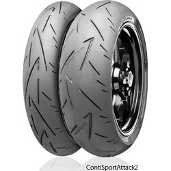 Continental コンチネンタル オンロード・スポーツ ContiSportAttack2 【190/55 ZR 17 M/C (75W)TL】 コンチスポーツアタック2 タイヤ