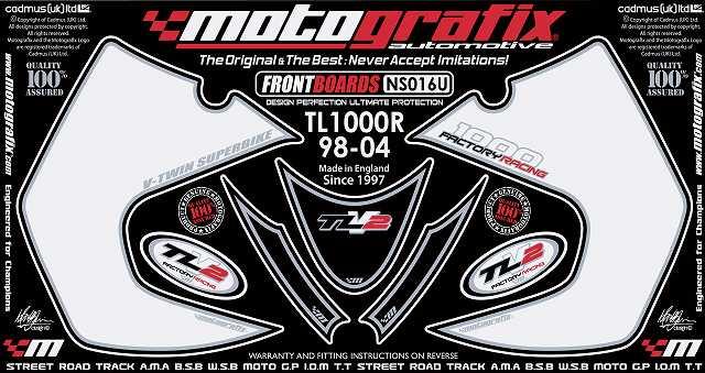 【ポイント5倍開催中!!】MOTOGRAFIX モトグラフィックス ステッカー・デカール ボディーパッド TL1000R