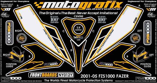 【ポイント5倍開催中!!】MOTOGRAFIX モトグラフィックス ステッカー・デカール ボディーパッド FZS1000 FAZER [フェザー]