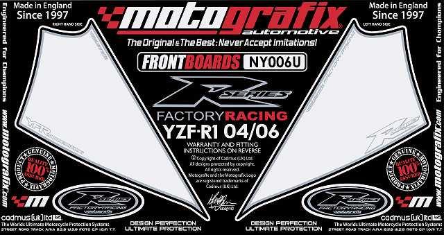 【ポイント5倍開催中!!】MOTOGRAFIX モトグラフィックス ステッカー・デカール ボディーパッド カラー:ホワイト YZF-R1