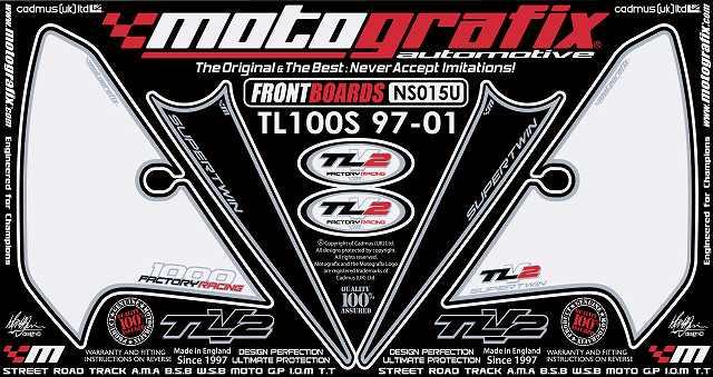 【ポイント5倍開催中!!】MOTOGRAFIX モトグラフィックス ステッカー・デカール ボディーパッド TL1000S