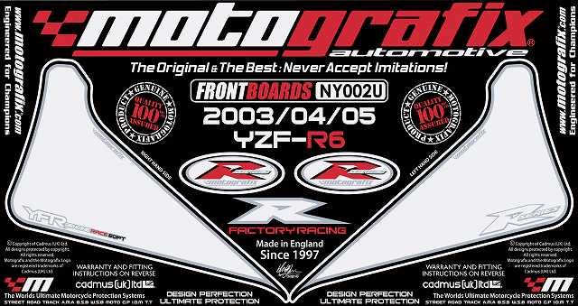 【ポイント5倍開催中!!】MOTOGRAFIX モトグラフィックス ステッカー・デカール ボディーパッド カラー:ホワイト/ブラック YZF-R6