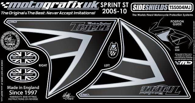 MOTOGRAFIX モトグラフィックス ステッカー・デカール ボディーパッド カラー:ブラック/ユニオンジャック SPRINT ST [スプリント] 1050 05-09 SPRINT ST [スプリント] 955 05-09