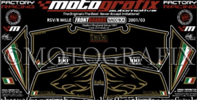 【ポイント5倍開催中!!】MOTOGRAFIX モトグラフィックス ステッカー・デカール ボディーパッド RSV1000 RSV1000 MILLE RSV1000 R 01-03