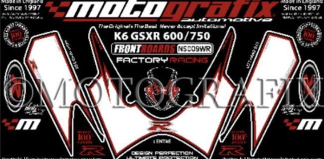 【ポイント5倍開催中!!】MOTOGRAFIX モトグラフィックス ステッカー・デカール ボディーパッド GSX-R600 K6-K7 GSX-R750 K6-K7