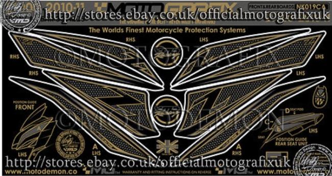 【ポイント5倍開催中!!】MOTOGRAFIX モトグラフィックス ステッカー・デカール ボディーパッド Z1000 (水冷) ZRT00D