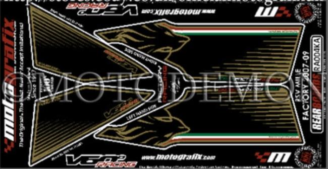 MOTOGRAFIX モトグラフィックス ステッカー・デカール ボディーパッド RSV1000R FACTORY