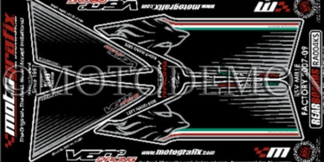 【ポイント5倍開催中!!】MOTOGRAFIX モトグラフィックス ステッカー・デカール ボディーパッド RSV1000R FACTORY