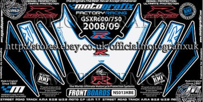 MOTOGRAFIX モトグラフィックス ステッカー・デカール ボディーパッド GSX-R600 K8 GSX-R750 K8