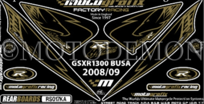 MOTOGRAFIX モトグラフィックス ステッカー・デカール ボディーパッド GSX1300R HAYABUSA [ハヤブサ]