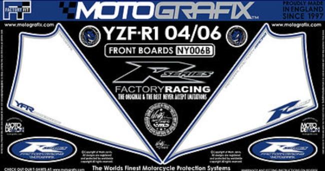 【ポイント5倍開催中!!】MOTOGRAFIX モトグラフィックス ステッカー・デカール ボディーパッド カラー:ホワイト/ブルー YZF-R1