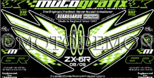 【ポイント5倍開催中!!】MOTOGRAFIX モトグラフィックス ステッカー・デカール ボディーパッド ZX-6R NINJA [ニンジャ] ZX-6RR NINJA [ニンジャ]