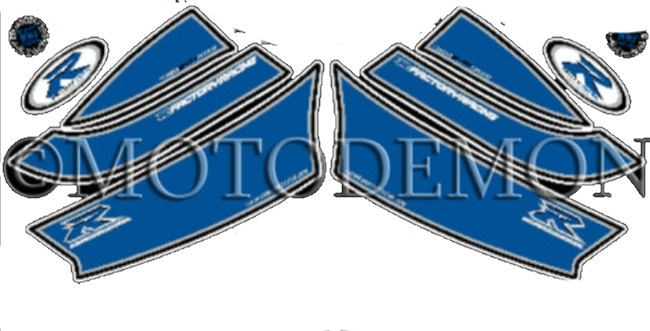 MOTOGRAFIX モトグラフィックス ステッカー・デカール ボディーパッド GSX-R600 K6-K7 GSX-R750 K6-K7