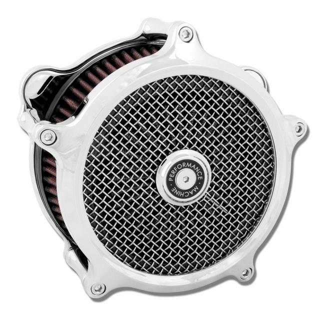 PerformanceMachine パフォーマンスマシン ビッグツイン用 Super Gas エアクリーナー(クロム) TOURING [ツーリング] ファミリー DYNA [ダイナ] ファミリー SOFTAIL [ソフテイル] ファミリー