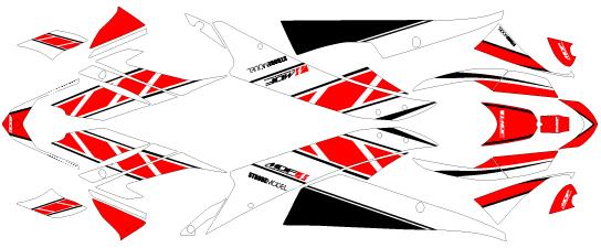 MDF エムディーエフ 車種別グラフィックデカールキット 06-07YZF-R6 ストロボ YZF-R6