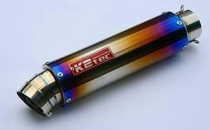 【送料無料】マフラー K2TEC ケイツーテック gps3p-42t6b6  K2TEC ケイツーテック バッフル・消音装置 GPスタイル STDチタンサイレンサー 3ピース 60.5/P60 バンド止めタイプ