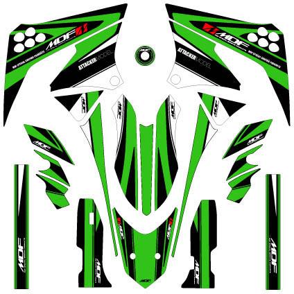 MDF エムディーエフ ステッカー・デカール 車種別グラフィックデカールキット D-TRA125 アタッカ ■コンプリートデカール(フルセット) Dトラッカー125