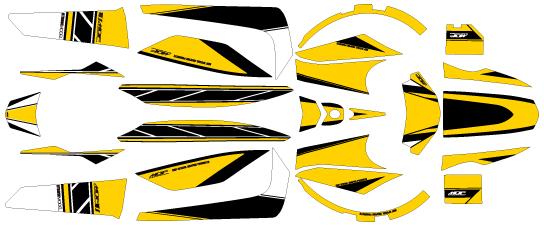【ポイント5倍開催中!!】【クーポンが使える!】 MDF エムディーエフ ステッカー・デカール 車種別グラフィックデカールキット BWS ストロボ ■コンプリートデカール(フルセット) BWS(ビーウィズ)