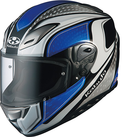 OGK KABUTO オージーケーカブト フルフェイスヘルメット AEROBLADE-III MAVERICK [AEROBLADE-3 エアロブレード・スリー マーヴェリック ホワイトブルー] ヘルメット サイズ:XL