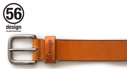 56design 56デザイン その他グッズ Rider's Curve Belt [ライダース カーブ ベルト] カラー:キャメル