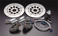 【イベント開催中!】 PMC ピーエムシー ディスクローター 320φフローティング・ブレーキキット キャリパーサポートカラー:シルバー ホールタイプ GPZ900R ゼファー1100