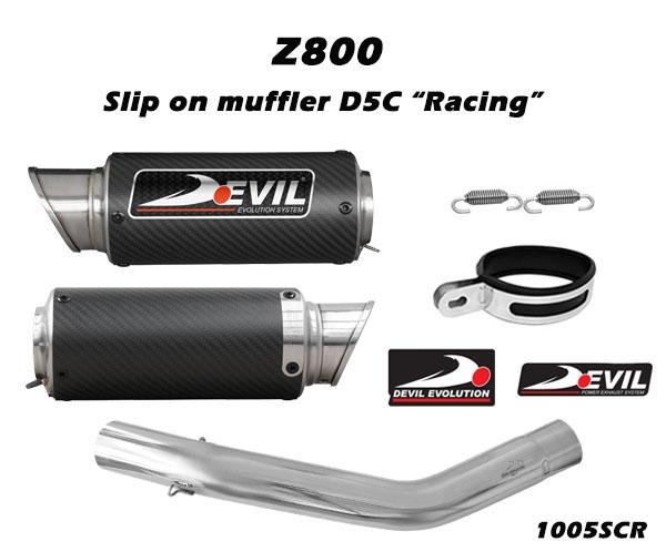 DEVIL EVOLUTION デビルエボリューション スリップオンカーボンマフラー D2.1C Z800