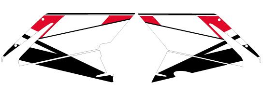 【ポイント5倍開催中!!】MDF エムディーエフ ステッカー・デカール 専用グラフィック ベースモデル タイプ:フロントサイドセット(フロントサイド部分左右セット) 749S 999S