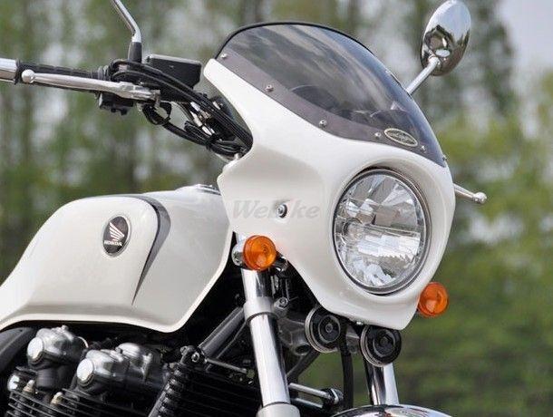 CHIC DESIGN シックデザイン ビキニカウル・バイザー ロードコメット カラー:クリア カラー:ダークネスブラックメタリック(ストライプ)(カラーコード:NH-463M) (3トーンカラー塗装済み) CB1100