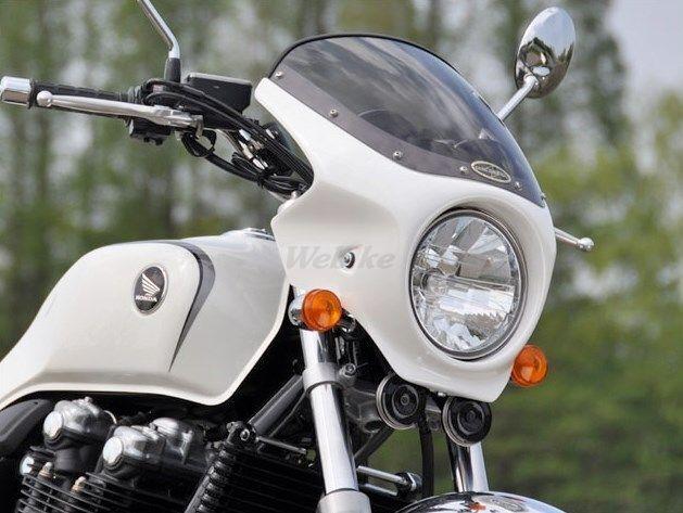 CHIC DESIGN シックデザイン ビキニカウル・バイザー ロードコメット カラー:スモーク カラー:黒ゲルコート (未塗装) CB1100