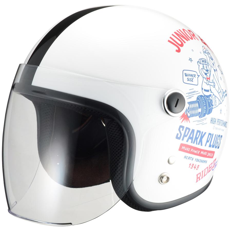 RIDEZ ライズ Jr SPARK PLUGS (ジュニア スパーク プラグス) ジェットヘルメット