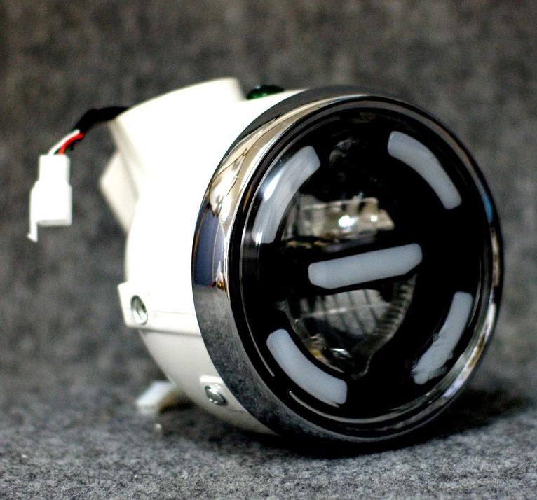 送料無料 ヘッドライト モンキー 代引き不可 好評受付中 GM-MOTO ジーエムモト mky-00262 スマートLEDヘッドライト ヘッドライト本体 カラー:ホワイト ケース ライトリム