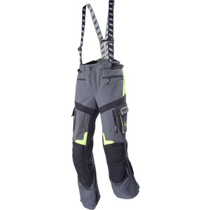 Rukka ルッカ ナイロンパンツ ROUGHROAD TEXPANTS, GREY/NEON YELLOW SIZE:S-64